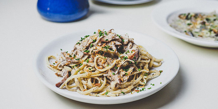 Smoked Chicken Truffle Cream Pasta from Group Therapy Coffee (Cross Street Exchange) in Telok Ayer, Singapore