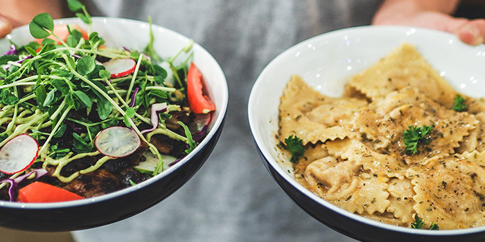 Salad & Ravioli from Group Therapy Coffee (Cross Street Exchange) in Telok Ayer, Singapore