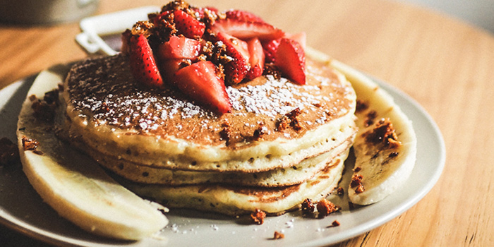 Pancakes from Group Therapy Coffee (Cross Street Exchange) in Telok Ayer, Singapore
