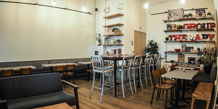 Dining Area of Group Therapy Coffee (Cross Street Exchange) in Telok Ayer, Singapore