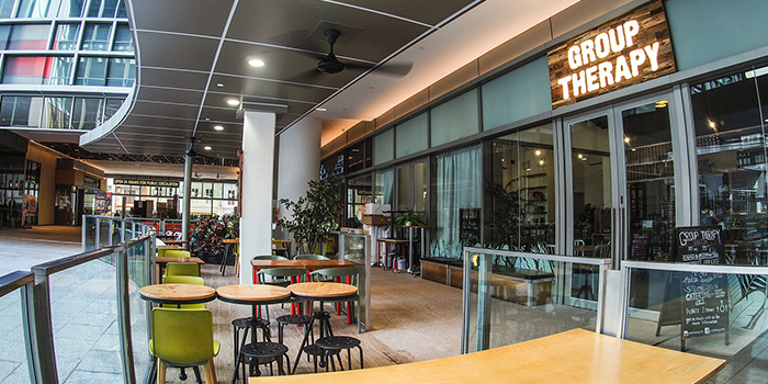 Exterior of Group Therapy Coffee (Cross Street Exchange) in Telok Ayer, Singapore