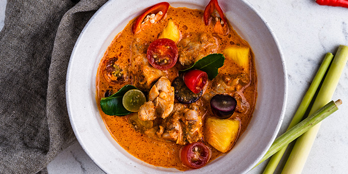 Red Curry of Chicken from Blue Jasmine at Park Hotel Farrer Park in Little India, Singapore.
