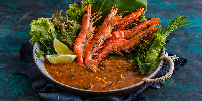River Prawn Yellow Curry from Blue Jasmine at Park Hotel Farrer Park in Little India, Singapore.