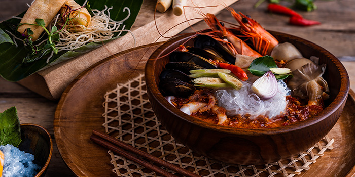 Tom Yum Seafood from Blue Jasmine at Park Hotel Farrer Park in Little India, Singapore.