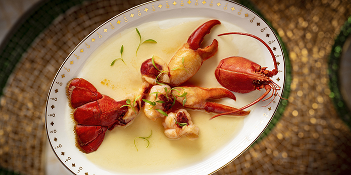 Steamed Lobster with 20 years aged Hau Diao and Egg White, Wing Lei Palace, Wynn Palace, Macau