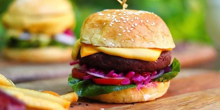 Ultimate Vegan Burger at Riva Grill Bar & Terrace at The Park Lane Jakarta in Kuningan, Jakarta