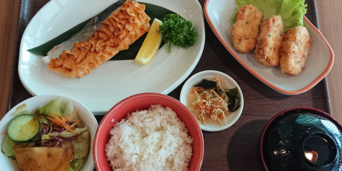 Salmon and Special Tofu Age Set from Kofuku Japanese Cuisine at City Gate in Bugis, Singapore