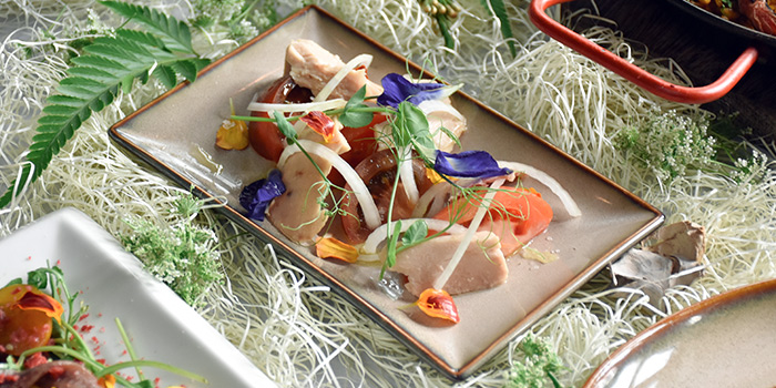 Heirloom Tomato and Tuna from UNA at The Alkaff Mansion in Telok Blangah, Singapore
