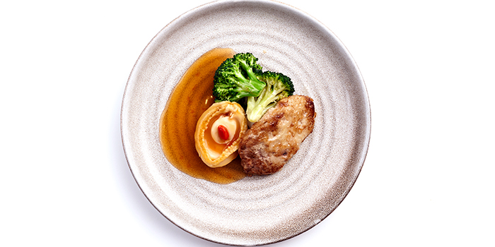 Abalone with Foie Gras from Peach Garden (Hotel Miramar) at Hotel Miramar in River Valley, Singapore