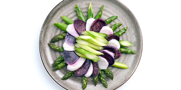 Asparagus with Sweet Potato from Peach Garden (OCBC Centre) at OCBC Centre in Raffles Place, Singapore