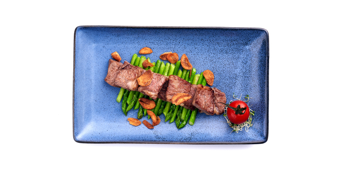 Wagyu with Garlic Slice from Peach Garden (OCBC Centre) at OCBC Centre in Raffles Place, Singapore
