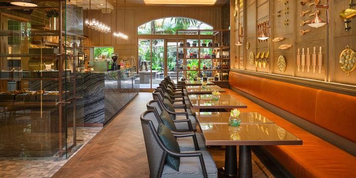 Dining Area from Mocha & Muffins at Anantara Siam Bangkok Hotel, Lumphini, Pathum Wan, Bangkok, Thailand