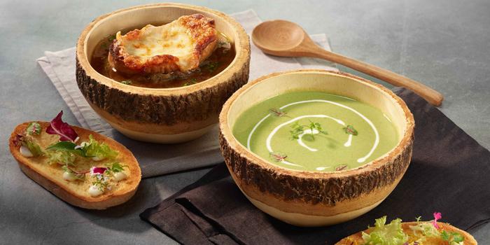Soups Selection from Mocha & Muffins at Anantara Siam Bangkok Hotel, Lumphini, Pathum Wan, Bangkok, Thailand