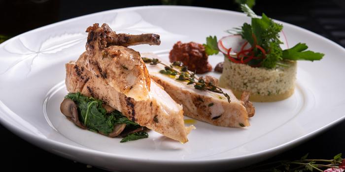 Grilled Baby Chicken from Plate at Carlton Bangkok Hotel, 491 Sukhumvit Rd, Khlong Toei Nuea, Watthana, Bangkok