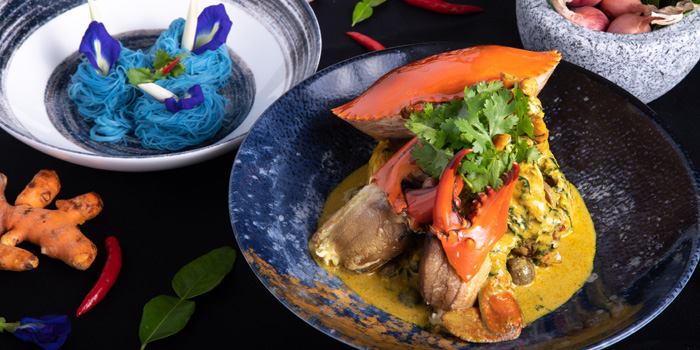 Mud Crab Yellow Curry from Plate at Carlton Bangkok Hotel, 491 Sukhumvit Rd, Khlong Toei Nuea, Watthana, Bangkok