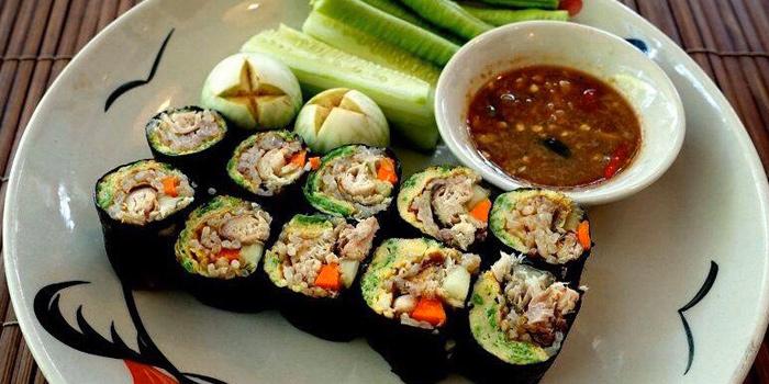 Namprik Pla Tuu Rolls from The Kitchen at Yenakat at 26, 3 Yen Akat Rd Thung Maha Mek, Sathon Bangkok