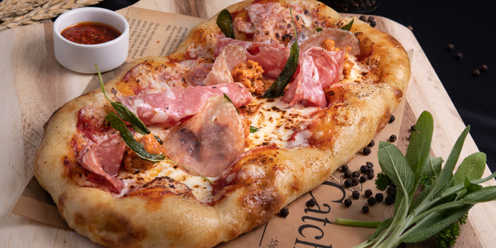 Signature Pizza from Plate at Carlton Bangkok Hotel, 491 Sukhumvit Rd, Khlong Toei Nuea, Watthana, Bangkok