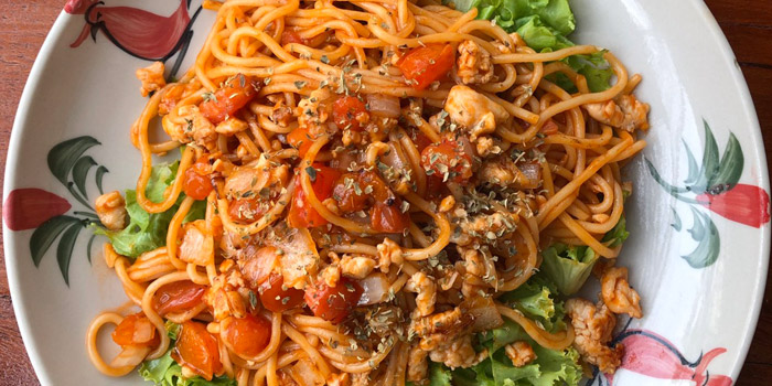 Spaghetti from The Kitchen at Yenakat at 26, 3 Yen Akat Rd Thung Maha Mek, Sathon Bangkok