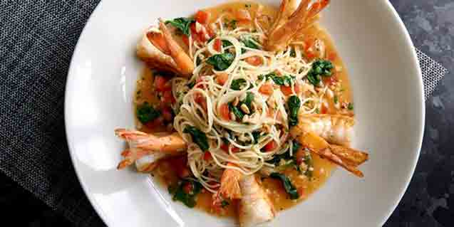 Shrimp Scampi Capellini, Morton