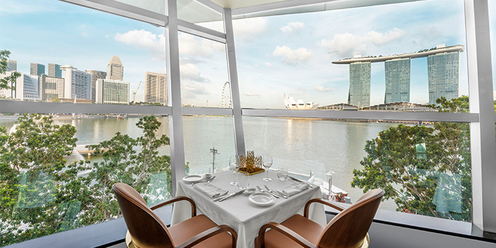 Interior from Riviera Forlino in One Fullerton in Raffles Place, Singapore
