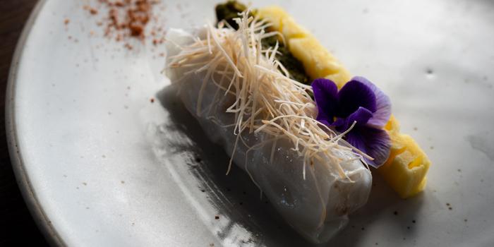Kao Kreab Pak Moh - Fermented Fish, Pineapple, Pak Waan Salad, Steamed Rice Sheet from TAAN Bangkok at Siam@Siam Design Hotel Bangkok 865 Rama 1 Road Wang Mai, Patumwan Bangkok
