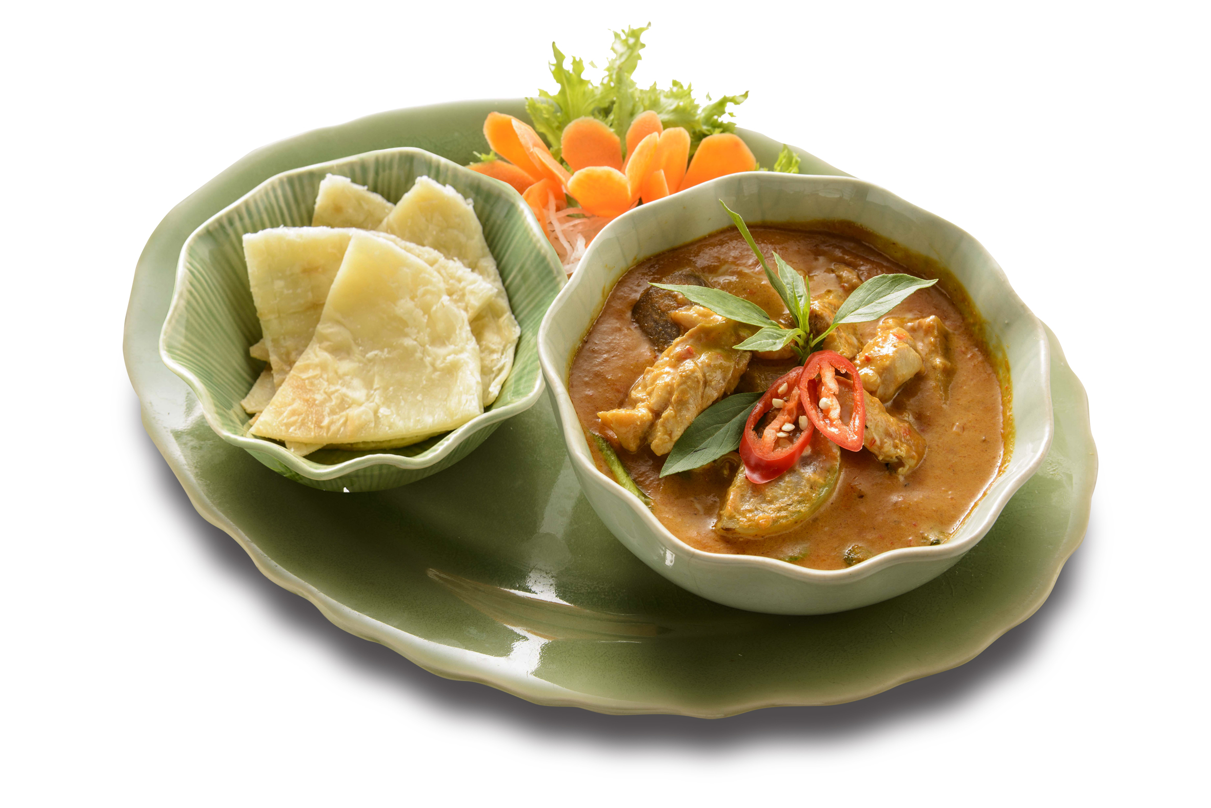 Thai Red Curry served with Roti Prata  from Thai Accent at VivoCity in Habourfront, Singapore