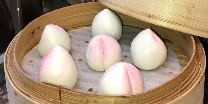 Steamed Longevity Buns with Lotus Paste and Salty Egg Yolk, Guo Fu Lou, Central, Hong Kong
