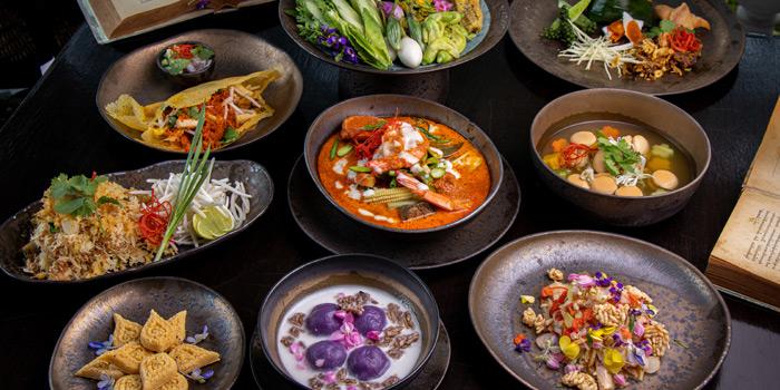Selection of Food from Ruen Noppagao at 27 Soi Piphat North Sathorn Road, Silom Bang Rad, Bangkok