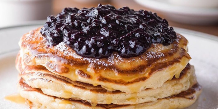 Blueberry Pancakes from Clinton Street Baking Company in Bugis, Singapore