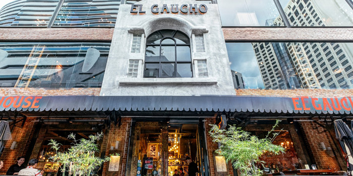 Entrance of El Gaucho Argentinian Steakhouse at 8/4-7 Soi Sukhumvit 19 Khlong Toei Nuea, Wattana Bangkok