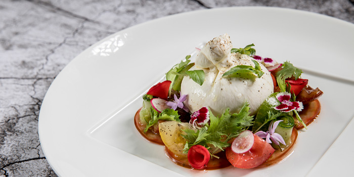Fresh Burrata Salad from Volti ristorante & bar at Shangri-La Hotel, Bangkok