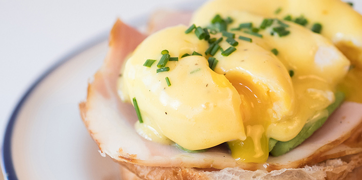 Egg Benny from Grids & Circles in Chinatown, Singapore