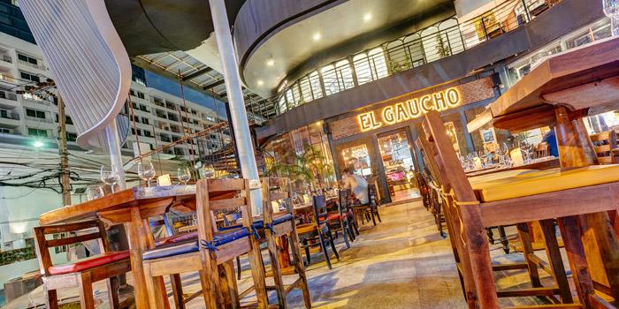 The Outdoor Seating of El Gaucho Argentinian Steakhouse at 88,36 Sukhumvit 55, Thonglor Klongton Nua, Wattana Bangkok
