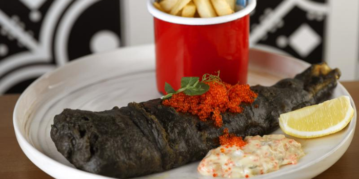 Blackened Fish & Chips from Baba Chews Bar and Eatery in Hotel Indigo Singapore Katong in East Coast, Singapore