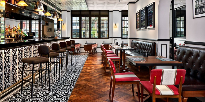 Interior of Baba Chews Bar and Eatery in Hotel Indigo Singapore Katong in East Coast, Singapore