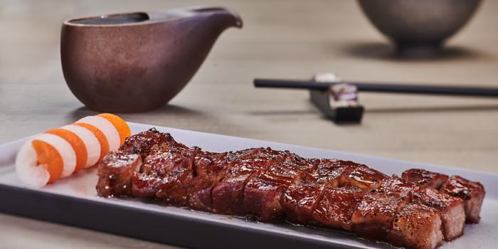 Barbecued Iberico pork, honey, Rùn, Wan Chai, Hong Kong