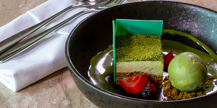 White Chocolate Green Tea Mousse at Arts Café by Raffles (Raffles Jakarta)