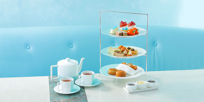 Tea Set, The Tiffany Blue Box Cafe, Tsim Sha Tsui, Hong Kong
