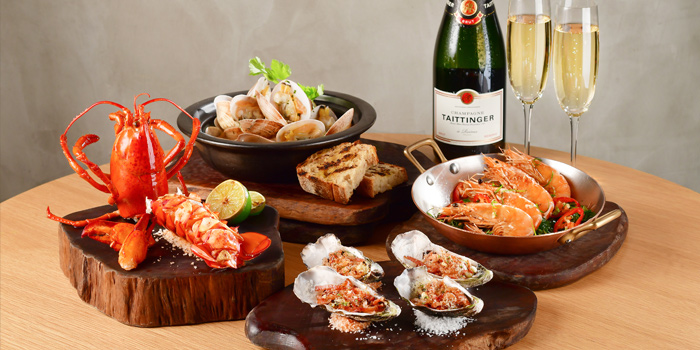 Bubbly Seafood Indulgence, Alibi - Wine Dine Be Social, Mong Kok, Hong Kong
