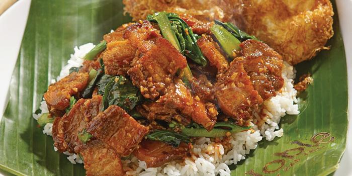 Spicy Kailan Pork on Rice Sharing at Noble by Zab Thai, Gunawarman