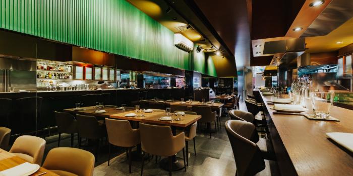 Main Dining Area of Thevar in Keong Saik, Singapore
