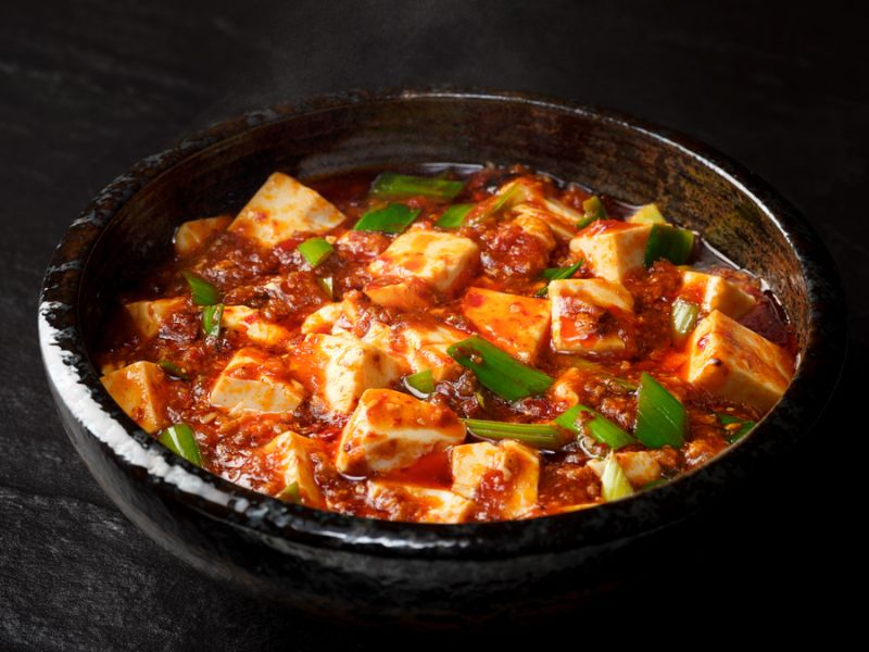 Bean Curd in Spicy Minced Meat Sauce from Si Chuan Dou Hua (Beach Road) in Bugis, Singapore