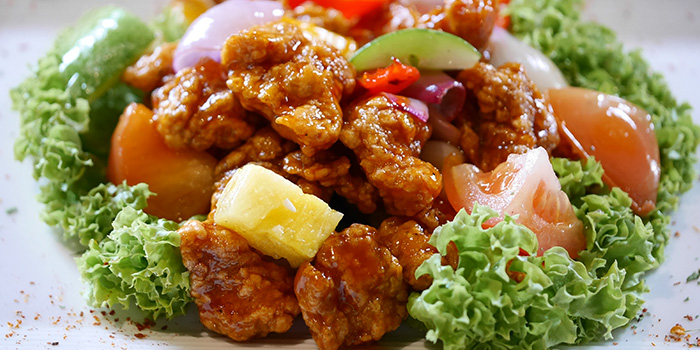 Sweet & Sour Pork from Cheval Chi Bao at Hometeam NS Clubhouse in Bukit Batok, Singapore