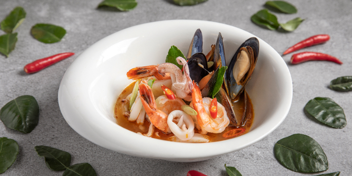 Coconut Seafood Tom Yum from Tiger Street Lab at Jewel Changi Airport in Changi, Singapore