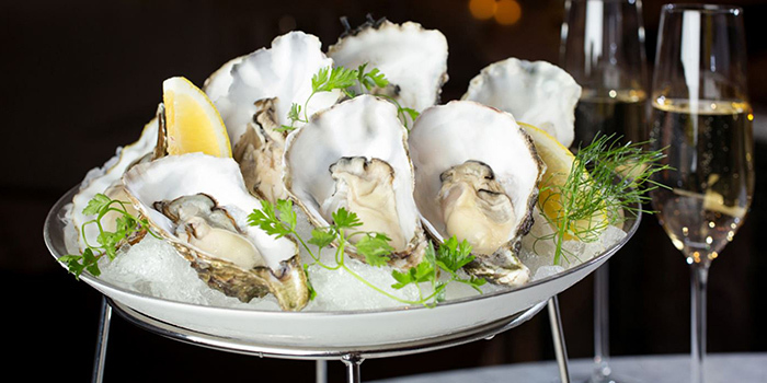 Oysters & Champagne from MO BAR at Mandarin Oriental Singapore in City Hall, Singapore