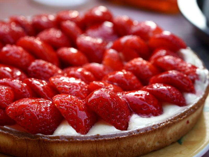 Strawberry Tart from The Cliff at Sentosa, Singapore