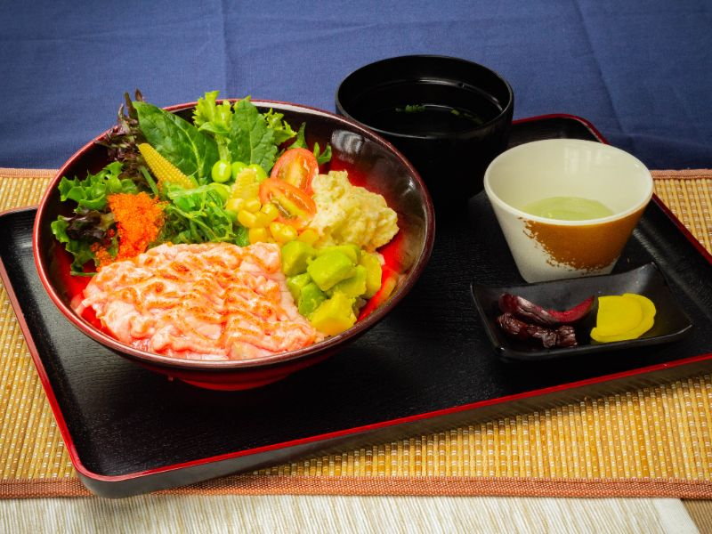 Aburi Salmon Poke Rice Bowl from Unagiya Ichinoji Dining (Suntec City) at Suntec City Mall in Promenade, Singapore