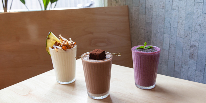 Selection of Drink from Pimp My Salad at 58 Soi Sathon 8, Khwaeng Silom, Khet Bang Rak, Bangkok