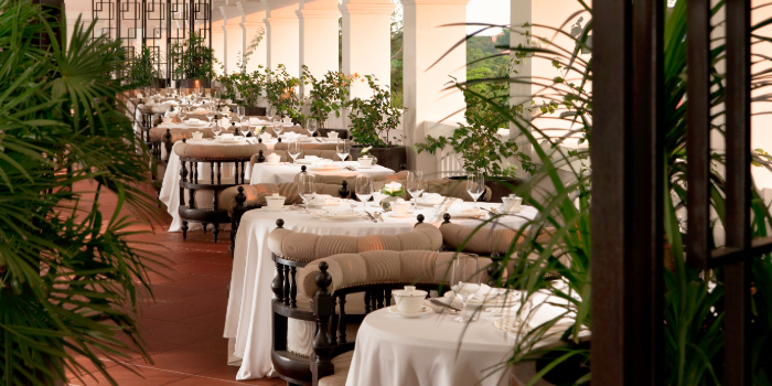 Terrace of Cassia at Capella Hotel on Sentosa Island, Singapore