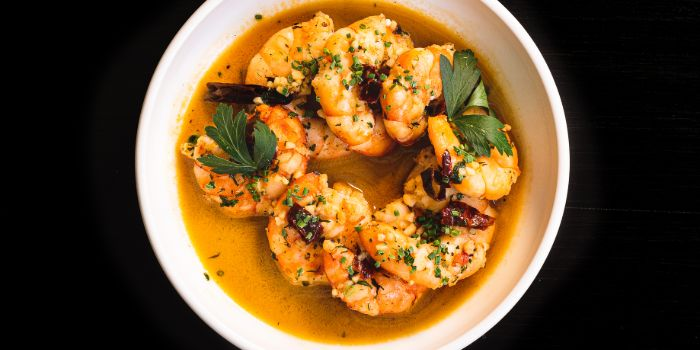 Prawns Ajillo from The Winery Tapas | Bar in City Hall, Singapore